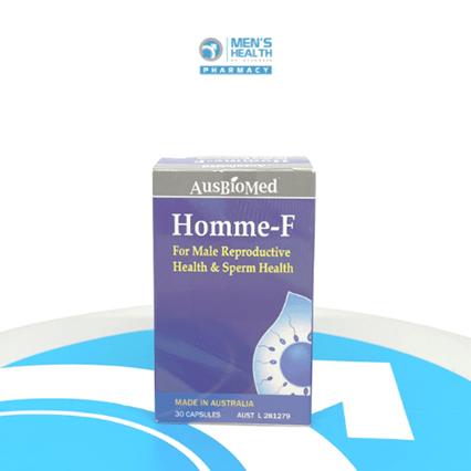 HOMME-F. Bào chế dùng cho sức khỏe sinh sản, sức khỏe tinh trùng của nam giới, tăng khả năng có con.